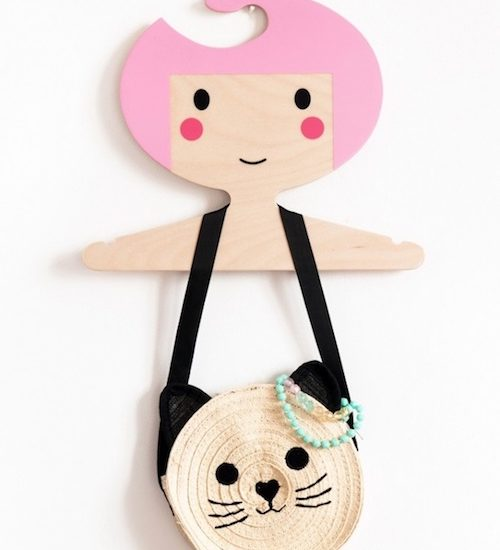 Kids clothes hanger pink CH1 at3