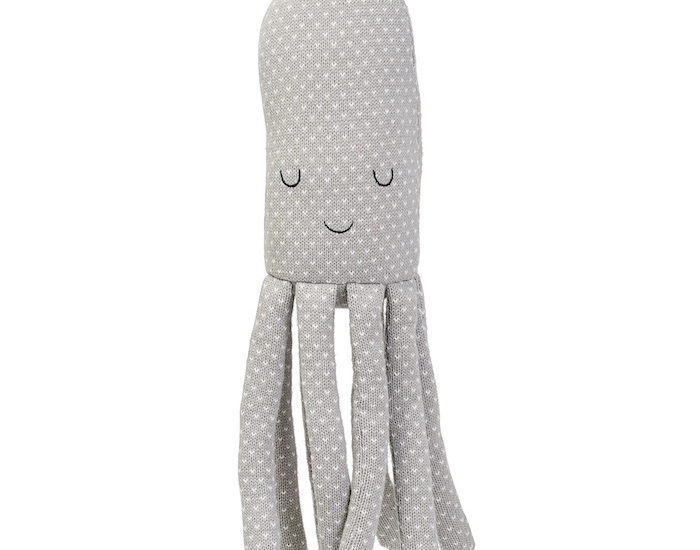 Knitted Grey Octopus