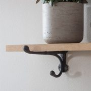Cast Iron Bracket Shelf Small Raw Oak Garden Trading in Small Shelf - hqdung.me